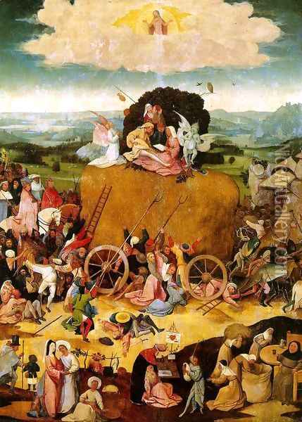 Triptych of Haywain (central panel) 2 Oil Painting - Hieronymous Bosch