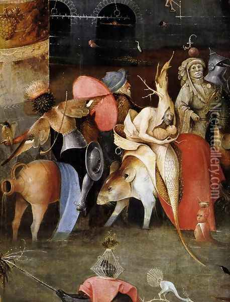 Triptych of Temptation of St Anthony (detail) 3 Oil Painting - Hieronymous Bosch