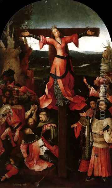 Triptych of the Martyrdom of St Liberata (central panel) 2 Oil Painting - Hieronymous Bosch