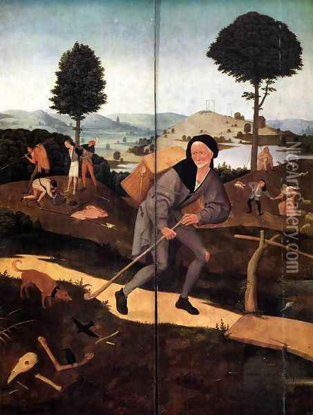 Triptych of Haywain (outer wings) 2 Oil Painting - Hieronymous Bosch