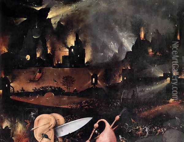 Triptych of Garden of Earthly Delights (detail) 5 Oil Painting - Hieronymous Bosch