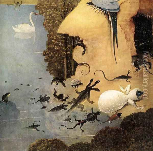 Triptych of Garden of Earthly Delights (detail) Oil Painting - Hieronymous Bosch