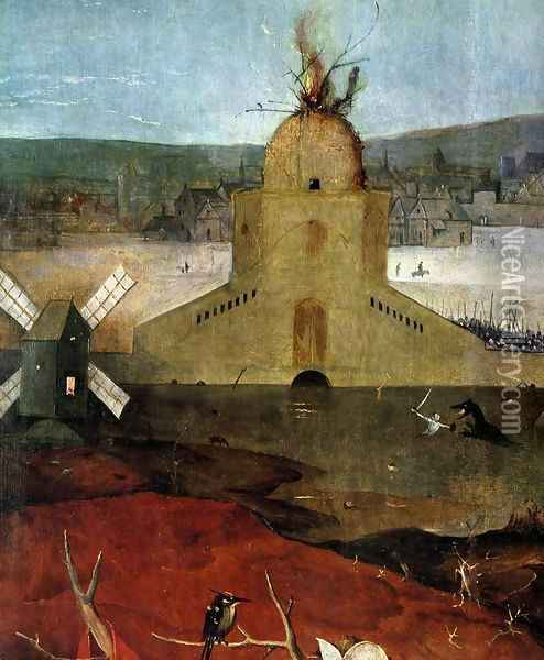 Triptych of Temptation of St Anthony (detail) 12 Oil Painting - Hieronymous Bosch