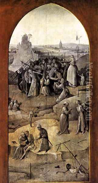 Triptych of Temptation of St Anthony (outer right wing) 2 Oil Painting - Hieronymous Bosch