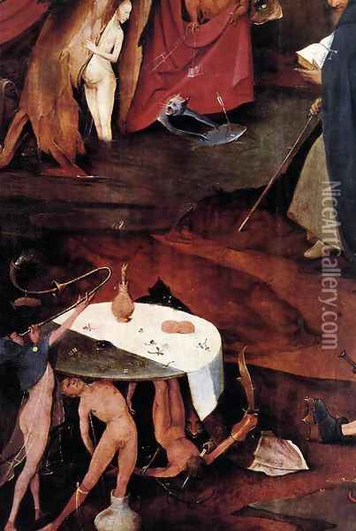 Triptych of Temptation of St Anthony (detail) 14 Oil Painting - Hieronymous Bosch