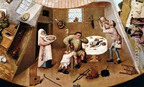 The Seven Deadly Sins (detail) 2 Oil Painting - Hieronymous Bosch