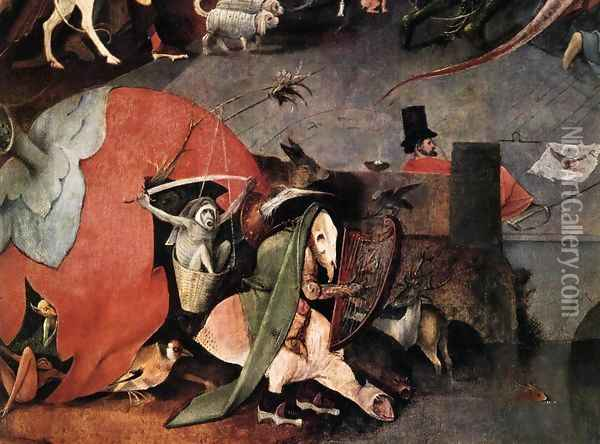 Triptych of Temptation of St Anthony (detail) 7 Oil Painting - Hieronymous Bosch
