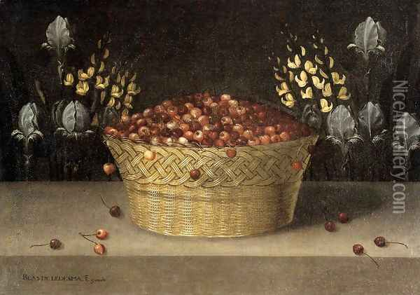 Still Life With Cherries And Strawberries In China Bowls Oil Painting - Osias, the Elder Beert