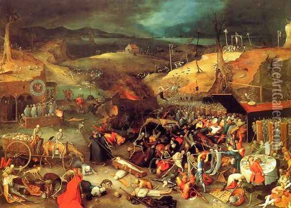The Triumph of Death Oil Painting - Jan The Elder Brueghel