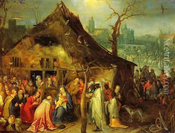 The Adoration of the Magi Oil Painting - Jan The Elder Brueghel