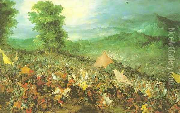 The Battle of Issus 1602 Oil Painting - Jan The Elder Brueghel