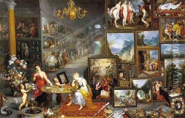 Allegory of Sight and Smell Oil Painting - Jan The Elder Brueghel