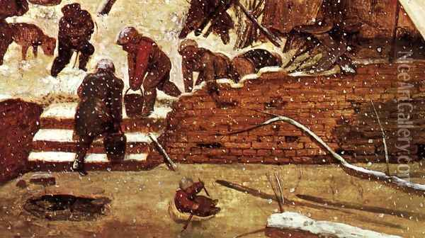 Adoration of the Kings in the Snow (detail) 1567 Oil Painting - Jan The Elder Brueghel