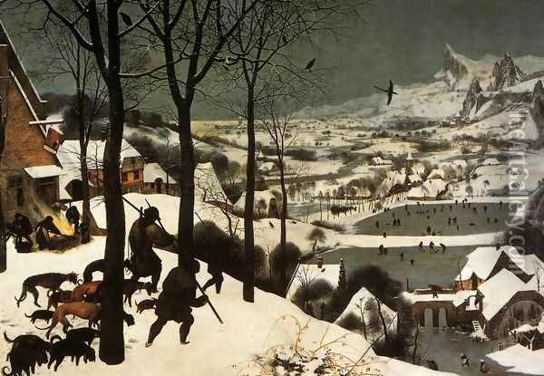 The Hunters in the Snow (January) 1565 Oil Painting - Jan The Elder Brueghel