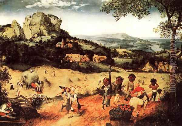 Haymaking (July) 1565 Oil Painting - Jan The Elder Brueghel