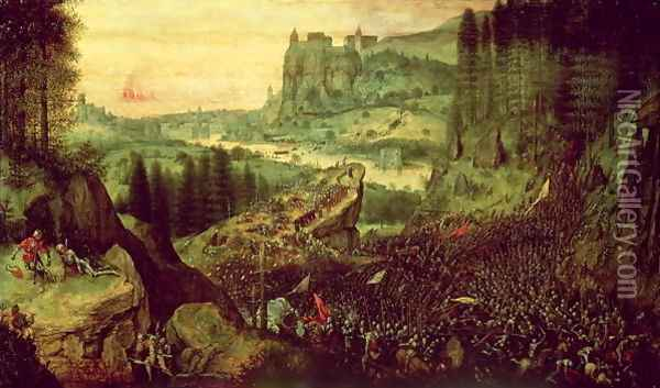 The Suicide of Saul Oil Painting - Jan The Elder Brueghel