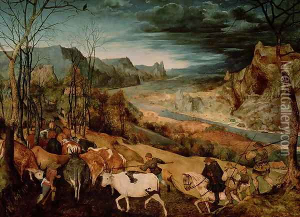 The Return of the Herd Oil Painting - Jan The Elder Brueghel
