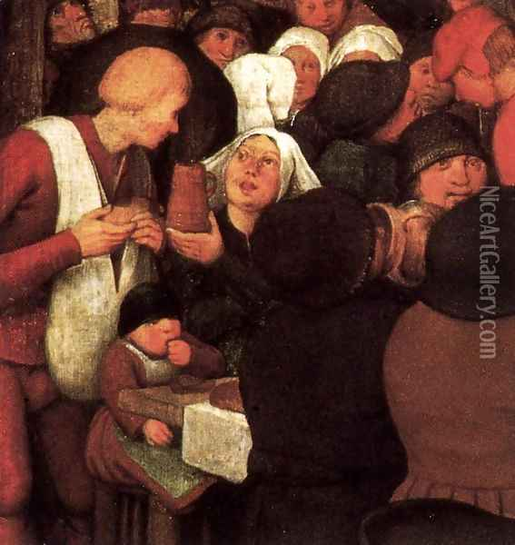 Peasant Wedding (detail) 1567 7 Oil Painting - Jan The Elder Brueghel