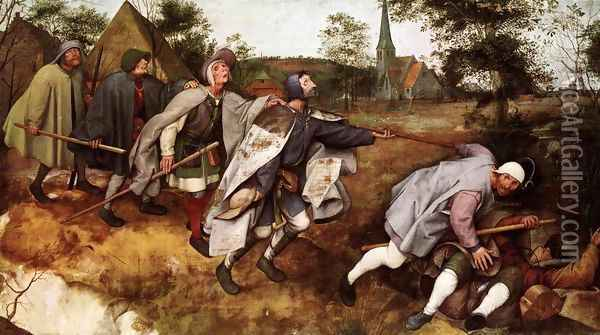 The Parable of the Blind Leading the Blind 1568 Oil Painting - Jan The Elder Brueghel