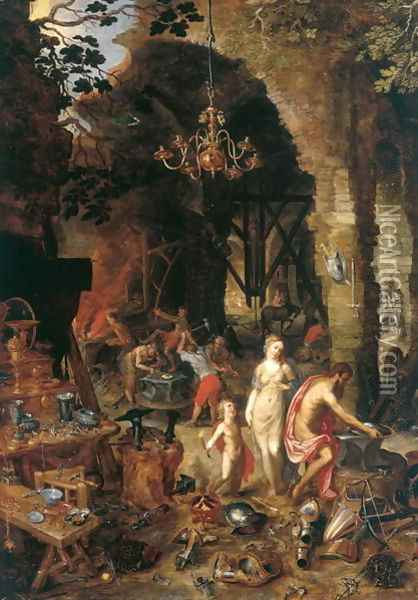 Fire Allegory of the Elements Oil Painting - Jan The Elder Brueghel
