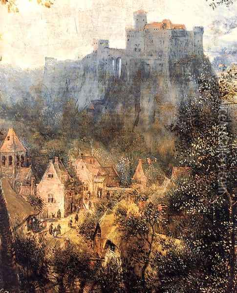 Magpie on the Gallow (detail) 1568 2 Oil Painting - Jan The Elder Brueghel
