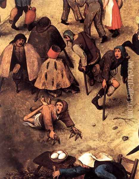 The Fight between Carnival and Lent (detail) 1559 5 Oil Painting - Jan The Elder Brueghel