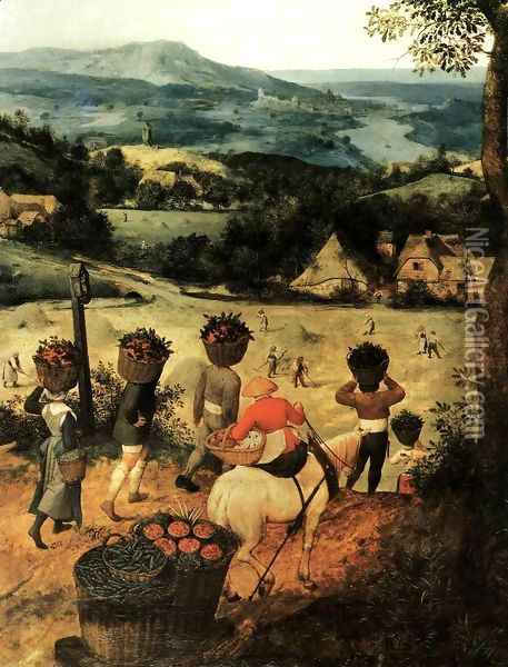 Haymaking (detail) 1565 3 Oil Painting - Jan The Elder Brueghel