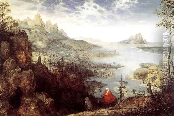 Landscape with the Flight into Egypt 1563 Oil Painting - Jan The Elder Brueghel