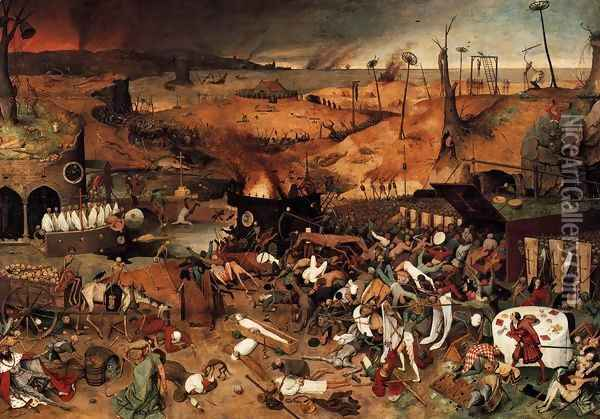 The Triumph of Death 1562 2 Oil Painting - Jan The Elder Brueghel