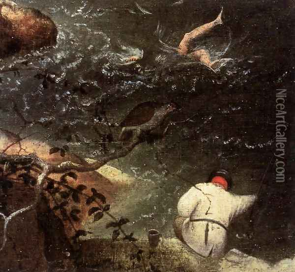 Landscape with the Fall of Icarus (detail) 1555 2 Oil Painting - Jan The Elder Brueghel