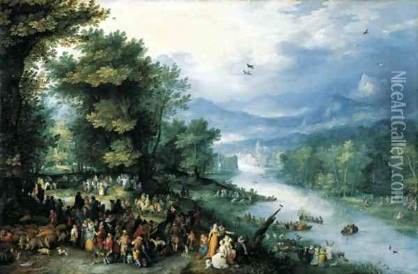 Landscape with Young Tobias 1598 Oil Painting - Jan The Elder Brueghel