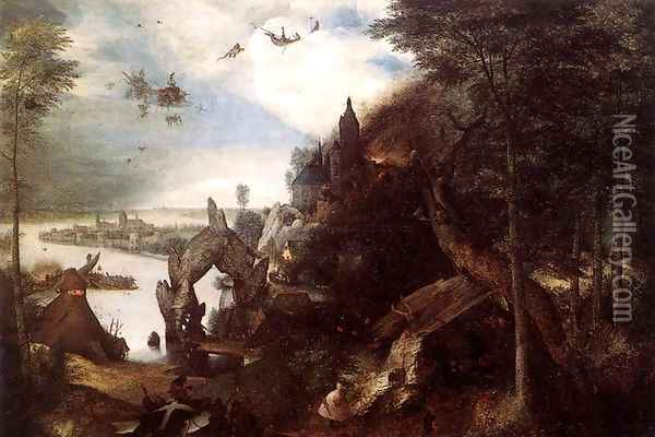 The Temptation of St Anthony 1557 Oil Painting - Jan The Elder Brueghel
