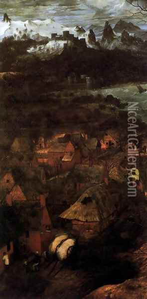 Gloomy Day (detail) 1565 Oil Painting - Jan The Elder Brueghel