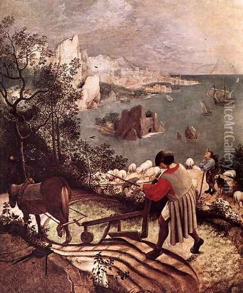 Landscape with the Fall of Icarus (detail) 1555 Oil Painting - Jan The Elder Brueghel
