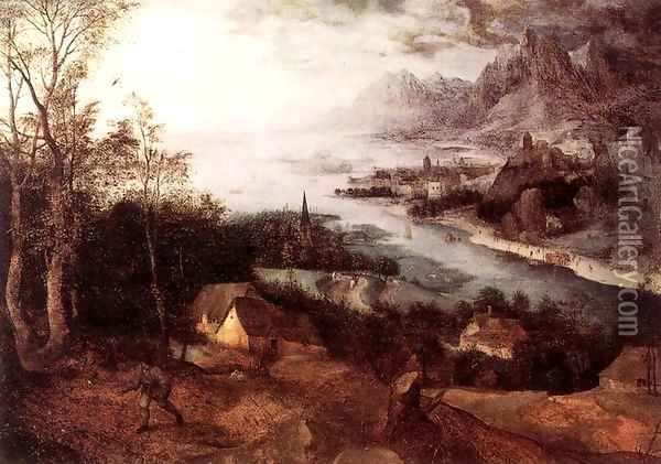 Landscape with the Parable of the Sower 1557 Oil Painting - Jan The Elder Brueghel