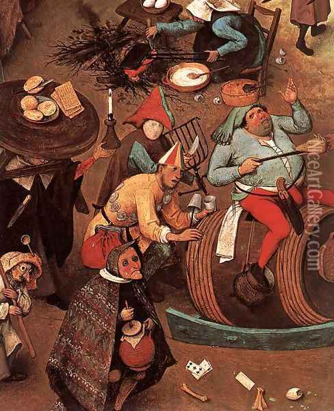 The Fight between Carnival and Lent (detail) 1559 Oil Painting - Jan The Elder Brueghel
