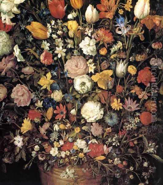 The Great Bouquet (detail) Oil Painting - Jan The Elder Brueghel