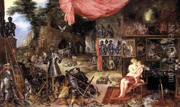 The Sense of Touch Oil Painting - Jan The Elder Brueghel