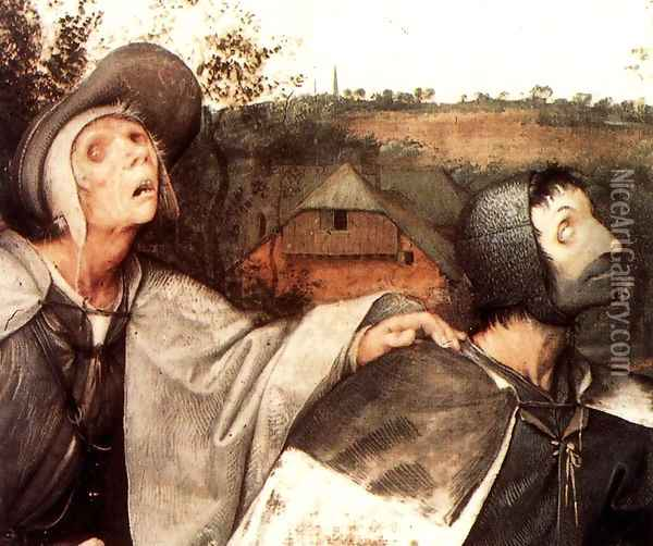 The Parable of the Blind Leading the Blind (detail) 1568 Oil Painting - Jan The Elder Brueghel