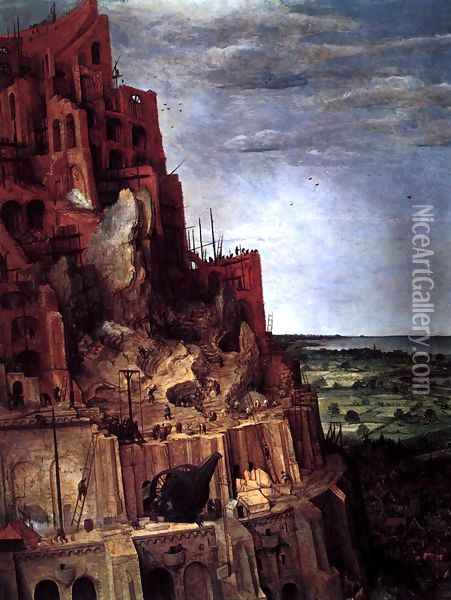 The Tower of Babel (detail) 1563 Oil Painting - Jan The Elder Brueghel