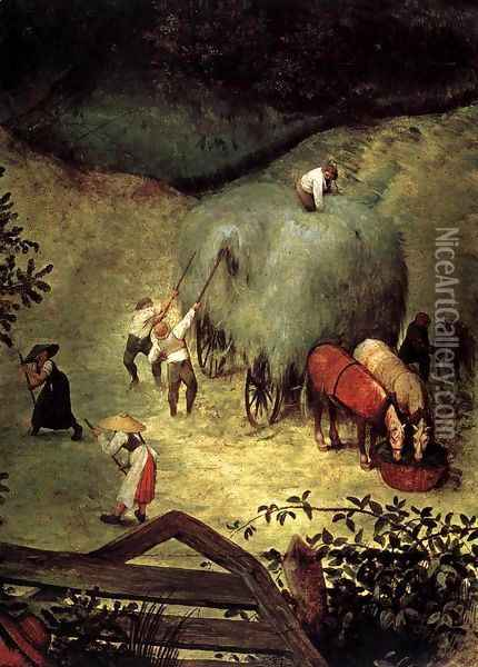 Haymaking (detail) 1565 Oil Painting - Jan The Elder Brueghel