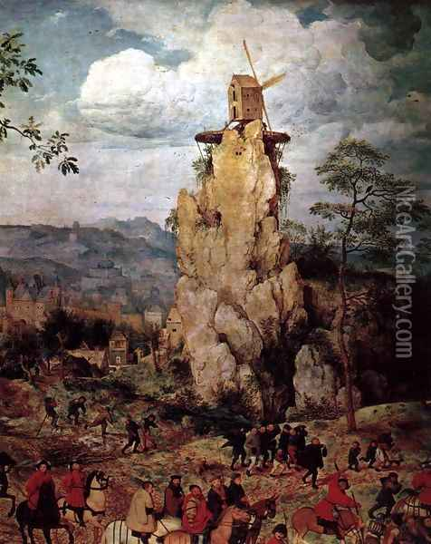 Christ Carrying the Cross (detail) 1564 7 Oil Painting - Jan The Elder Brueghel