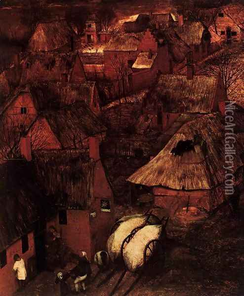 Gloomy Day (detail) 1565 4 Oil Painting - Jan The Elder Brueghel