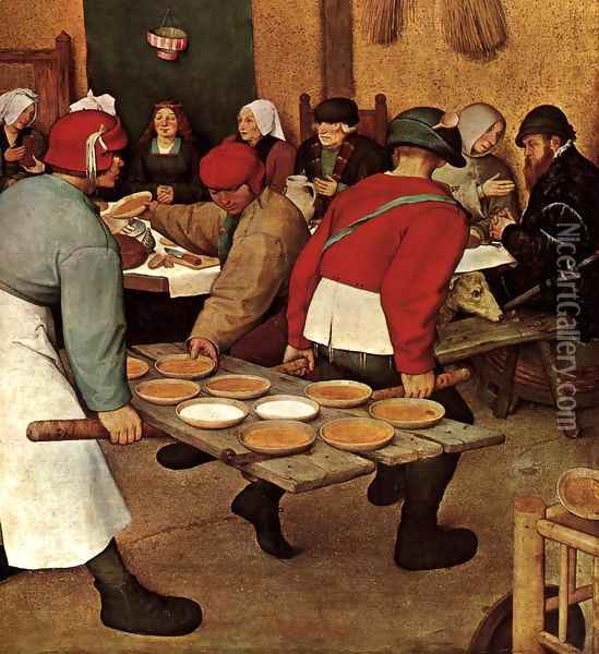 Peasant Wedding (detail) 1567 4 Oil Painting - Jan The Elder Brueghel