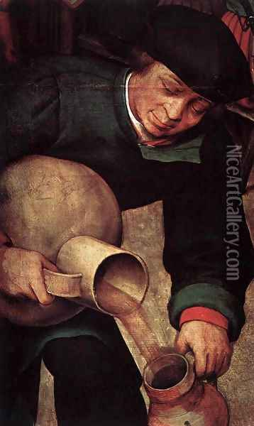 Peasant Wedding (detail) 1567 5 Oil Painting - Jan The Elder Brueghel