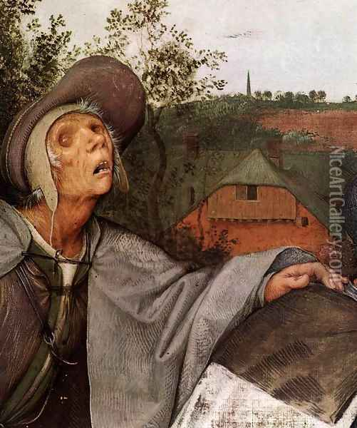 The Parable of the Blind Leading the Blind (detail) 1568 2 Oil Painting - Jan The Elder Brueghel