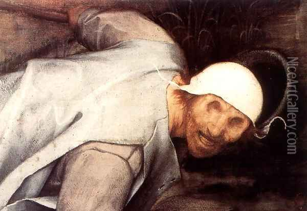 The Parable of the Blind Leading the Blind (detail) 1568 3 Oil Painting - Jan The Elder Brueghel