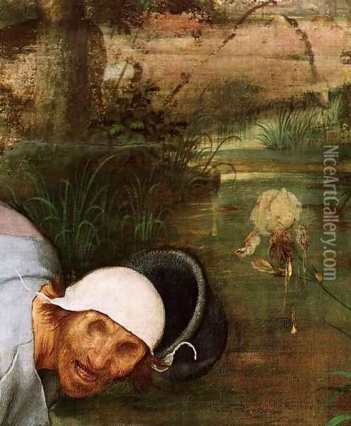 The Parable of the Blind Leading the Blind (detail) 1568 4 Oil Painting - Jan The Elder Brueghel