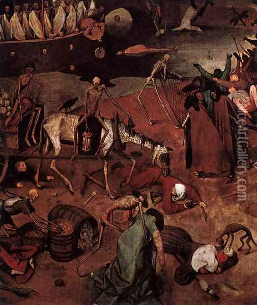 The Triumph of Death (detail) 1562 6 Oil Painting - Jan The Elder Brueghel