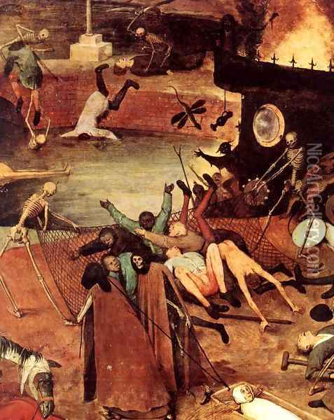 The Triumph of Death (detail) 1562 8 Oil Painting - Jan The Elder Brueghel